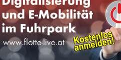 FLOTTE Live: Digitalisierung  und E-Mobilität im Fuhrpark