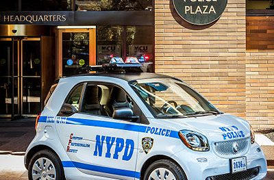 New Yorker Cops fahren Smart